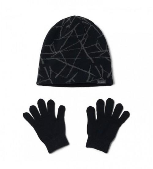 Columbia pirštinių ir kepurės komplektukas. Spalva juoda