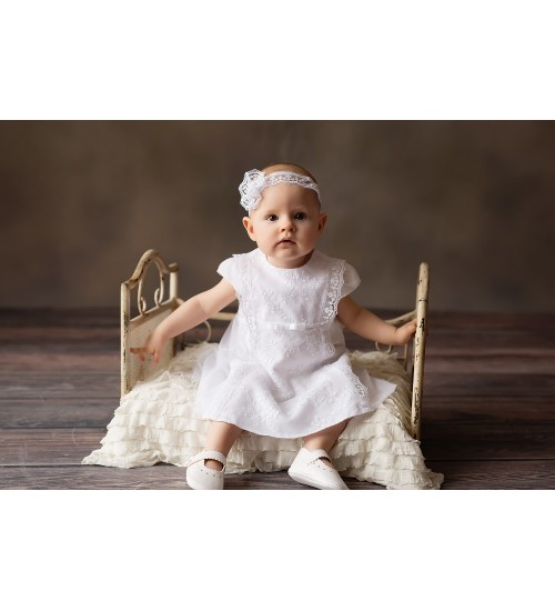 Balumi suknelė Alicija. Spalva balta
