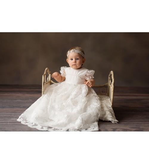 Balumi suknelė Eryka. Spalva šviesiai kreminė