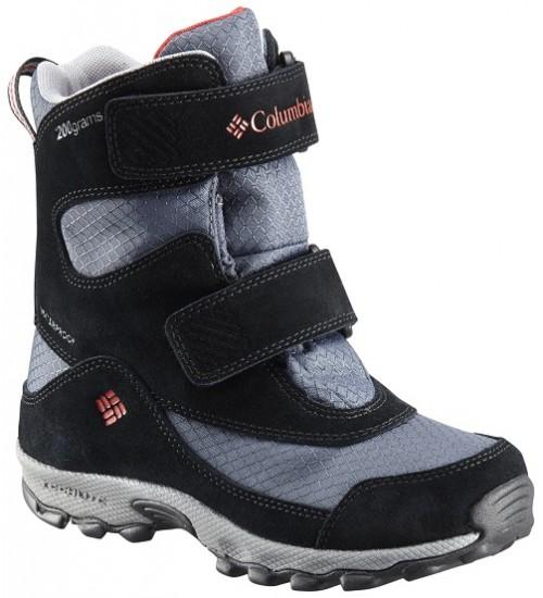 Columbia žiemos batai YOUTH PARKERS PEAK VELCRO BOOT. Spalva juoda / šviesiai pilka