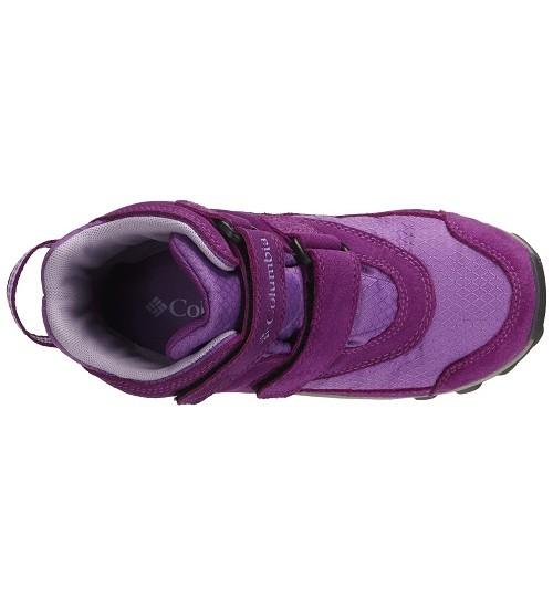 Columbia žiemos batai YOUTH PARKERS PEAK VELCRO BOOT. Spalva violetinė / šviesiai violetinė
