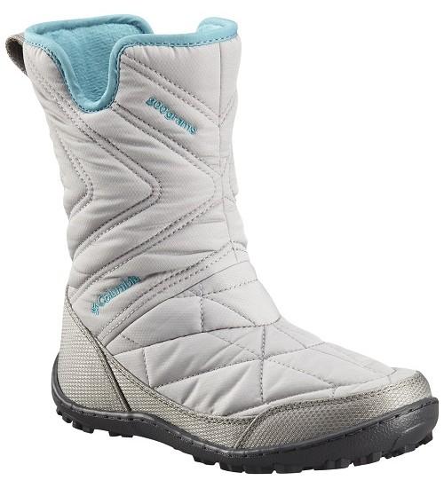 Columbia žiemos batai mergaitei YOUTH MINX SLIP III. Spalva šviesiai pilka