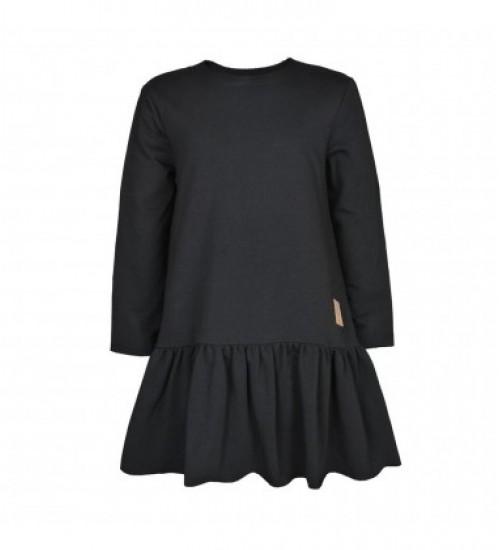 Tuss moteriška suknelė. Spalva juoda