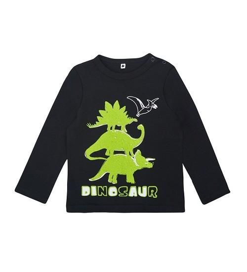 """Garnamama palaidinukė """" Dinosaur """". Spalva juoda"""