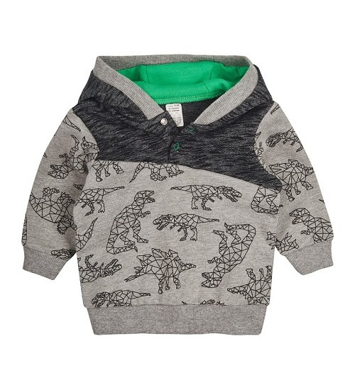 Garnamama džemperiukas berniukams. Spalva pilka