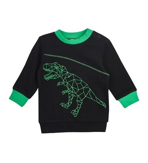 """Garnamama džemperiukas - maikutė """"Dinozauras"""" . Spalva juoda"""