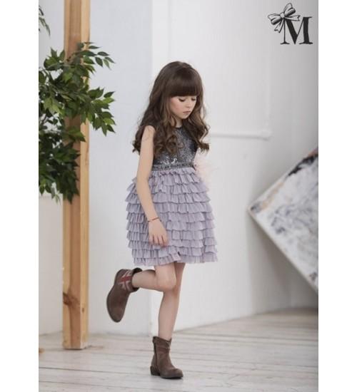 MałaMi pilka suknelė su horizantaliomis klostėmis