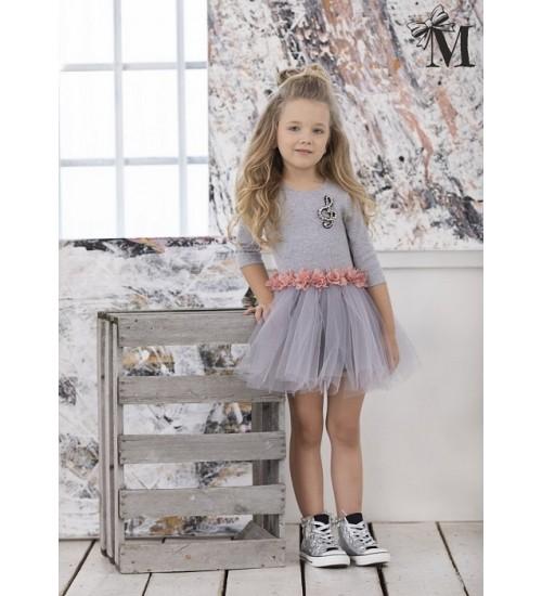 MałaMi pilka suknelė su pustu sijonuku