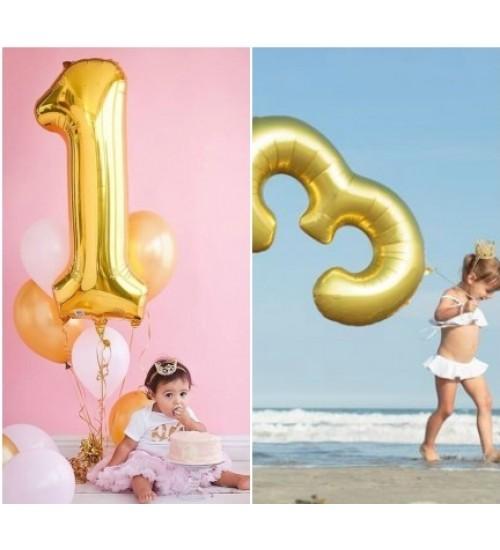 """Folinis helio balionas """" Auksinis skaičius 3 """""""