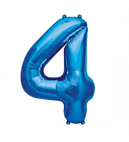 """Folinis helio balionas """" Mėlynas skaičius 4 """""""