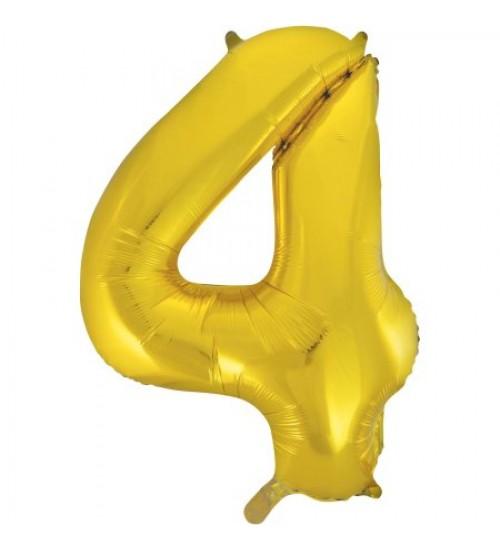 """Folinis helio balionas """" Auksinis skaičius 4 """""""