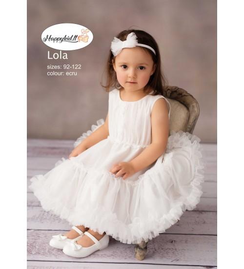 Balumi suknelė Lola. Spalva šviesiai kreminė
