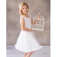 Balumi suknelė Chantal 128-146cm. Spalva balta