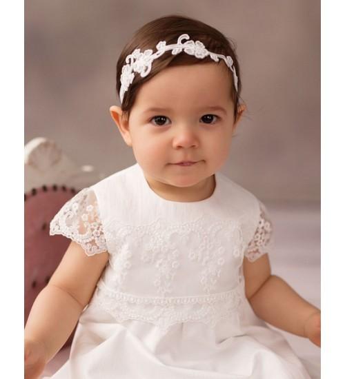 Balumi suknelė Luiza 62-86 cm. Spalva šviesiai kreminė