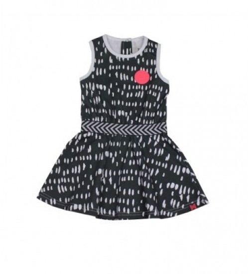 Koko - Noko vaikiška suknelė su printu Spalva tamsiai pilka