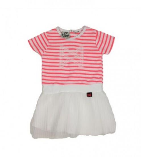 Koko - Noko vaikiška suknelė. Spalva rožinė / balta