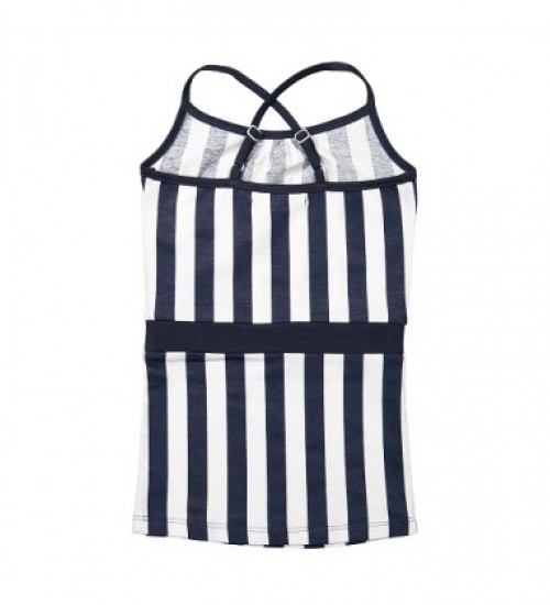 Koko - Noko vaikiška dryžuota suknelė. Spalva tamsiai mėlyna navy/ balta dryžuota