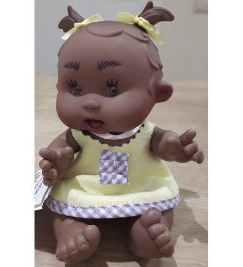 Nines d'Onil lėlytė Pepotin ( mergaitė su geltona suknele 21 cm). Spalva ruda