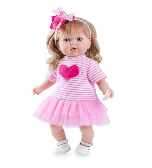 Nines d'Onil lėlytė Tita ( mergaitė su balta / rožine suknele )