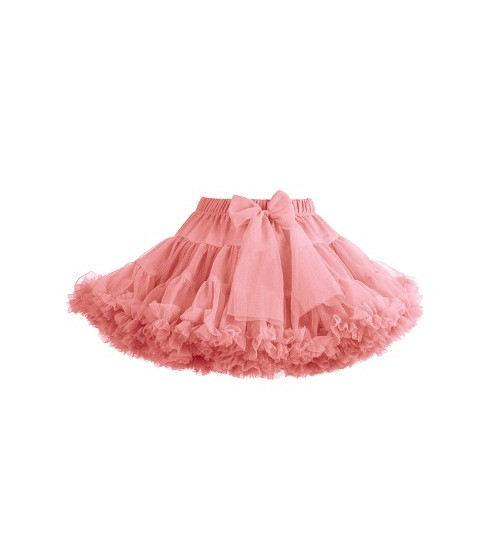 Manufaktura Falbanek tiulio sijonas. Spalva šviesiai koralų