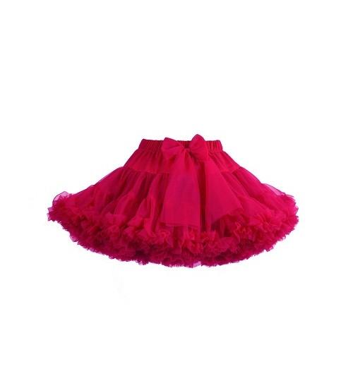 Manufaktura Falbanek tiulio sijonas. Spalva ryškiai avietinis