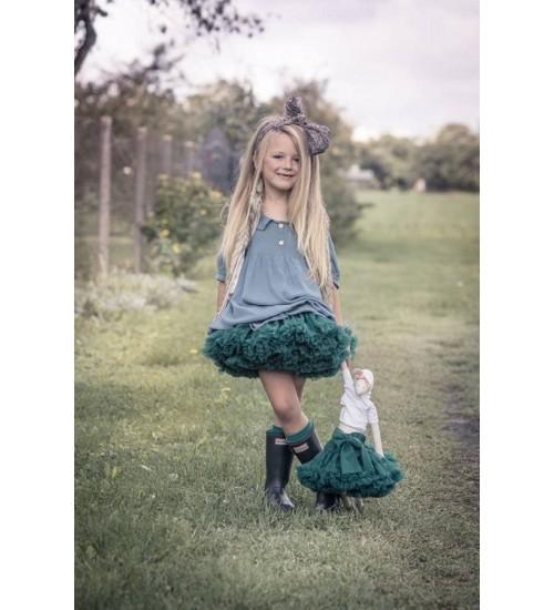 Tiulio sijonas. Spalva tamsiai žalia