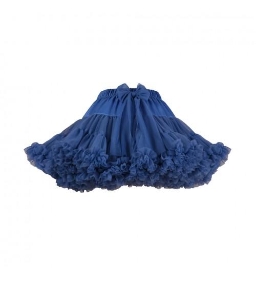 Manufaktura Falbanek tiulio sijonas. Spalva tamsiai mėlyna