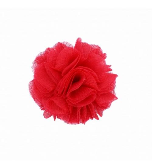 Manufaktura Falbanek segtukas su pomponu. Spalva raudona
