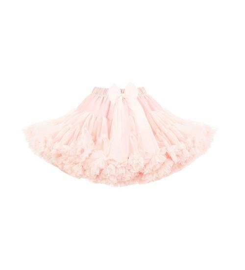Manufaktura Falbanek tiulio sijonas. Spalva sendinta rožė