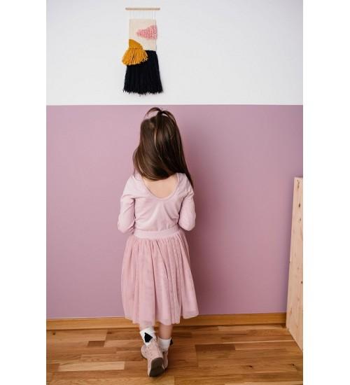 Manufaktura Falbanek ilgas tiulio sijonas. Spalva rausva