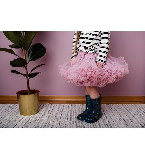 Manufaktura Falbanek tiulio sijonas. Spalva rausva