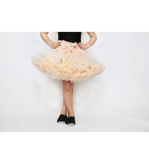Manufaktura Falbanek tiulio sijonas. Spalva kreminė