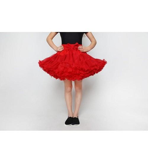 Manufaktura Falbanek tiulio sijonas. Spalva raudona
