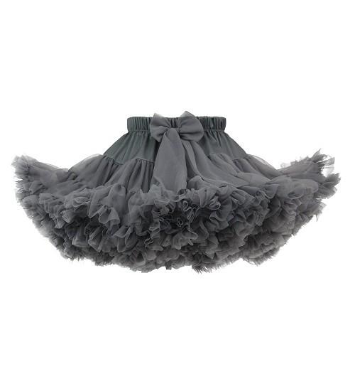 Manufaktura Falbanek tiulio sijonas. Spalva pilka