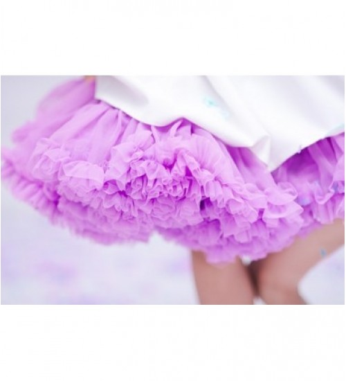Manufaktura Falbanek tiulio sijonas. Spalva ryški orchidėja