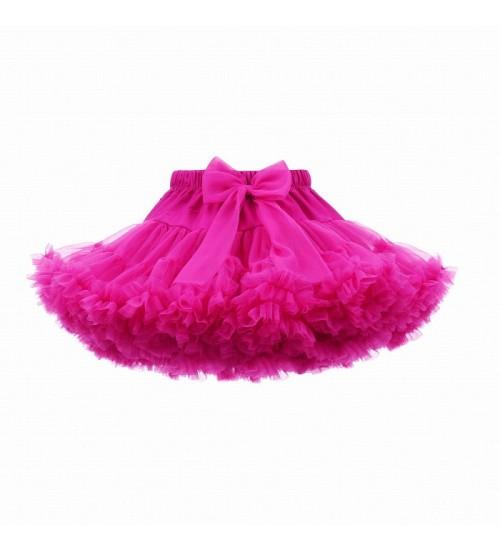 Manufaktura Falbanek tiulio sijonas. Spalva ryškiausia rožinė