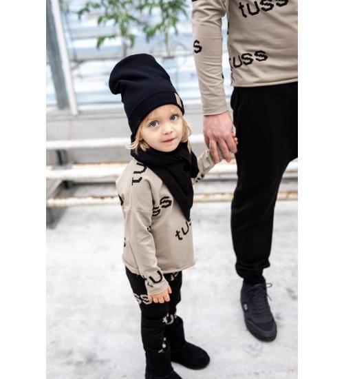 TUSS vaikiška kepurė. Spalva juoda