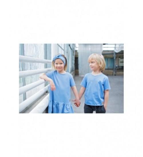 Tuss marškinėliai vaikams trumpomis rankovėmis. Spalva žydra