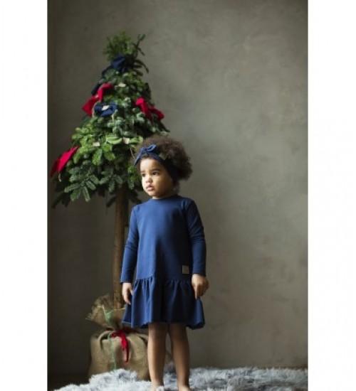 Tuss vaikiška suknelė. Spalva tamsiai mėlyna