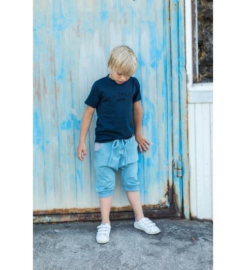 """Tuss marškinėliai vaikams trumpomis rankovėmis """" Too Stars """". Spalva tamsiai mėlyna"""